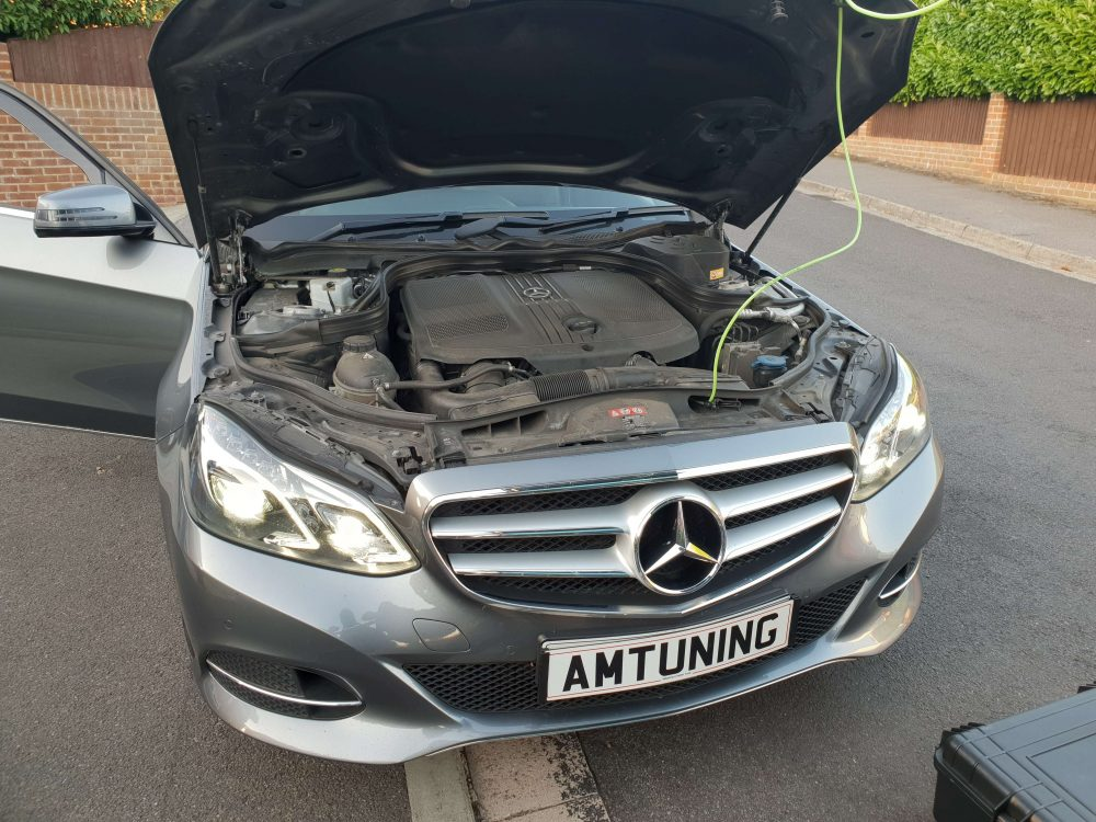 Mercedes E Class Remap and Hydrogen clean by AMTuning Portsmouth