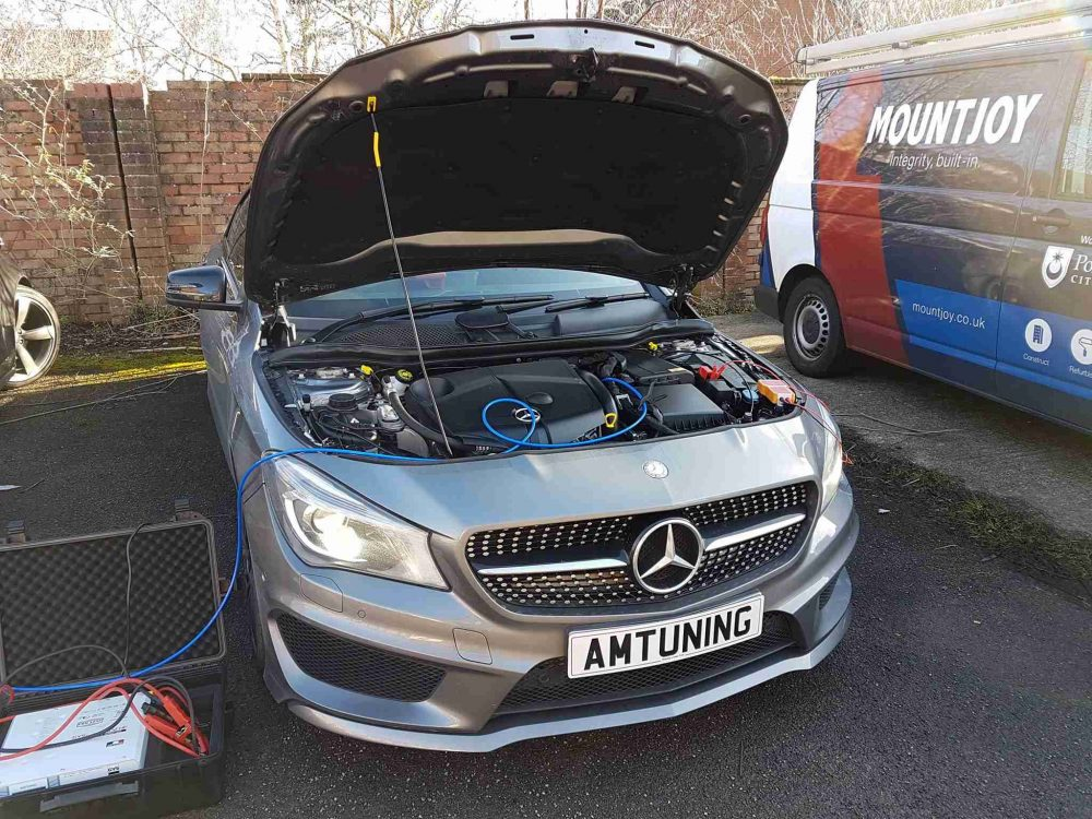 Mercedes CLA220d Remap and Hydroge Clean by AMTuning.uk Portsmouth